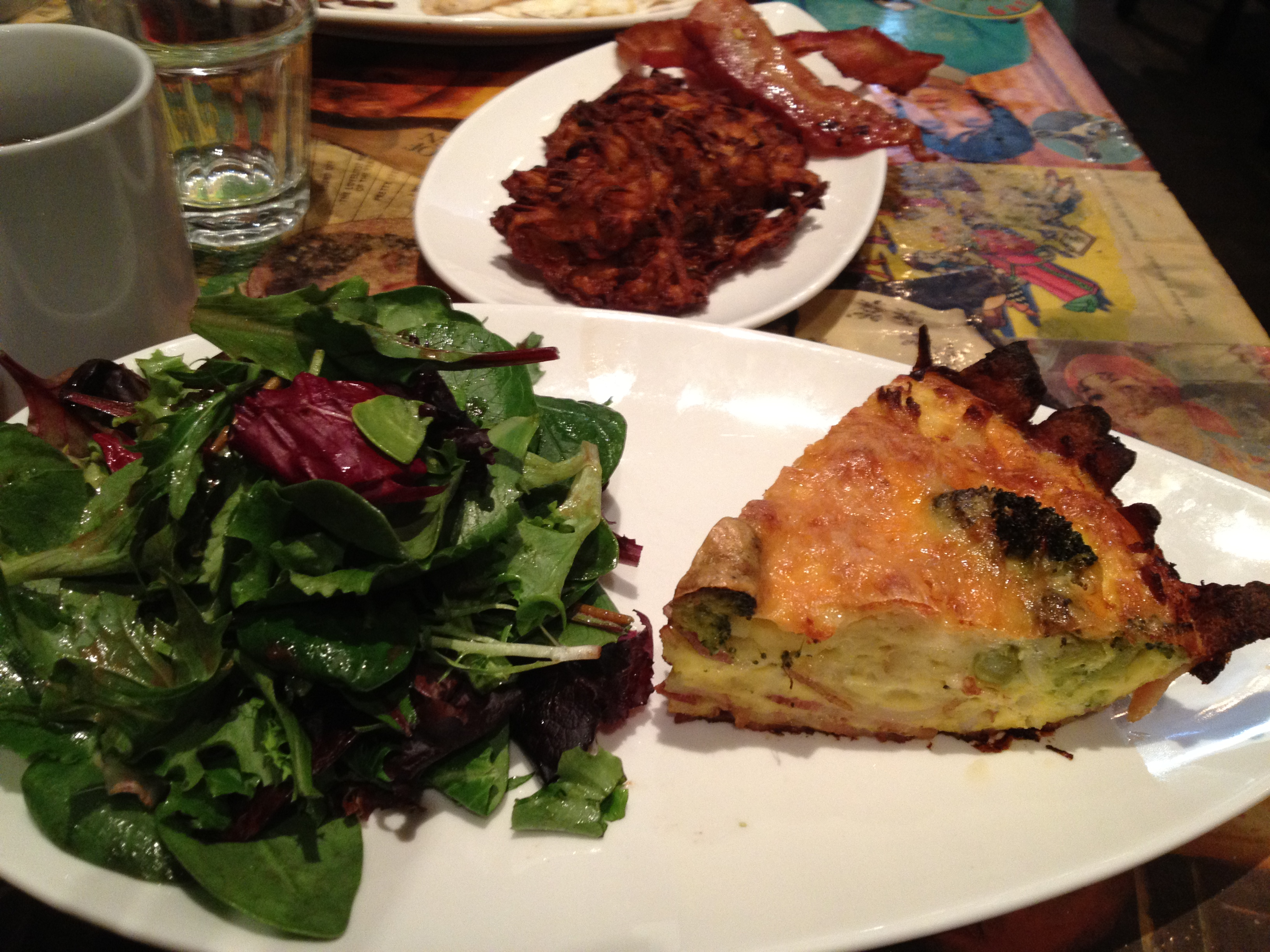 My meal at Cardinal Rule was a Breakfast Pie. A Quiche with a Bacon Crust