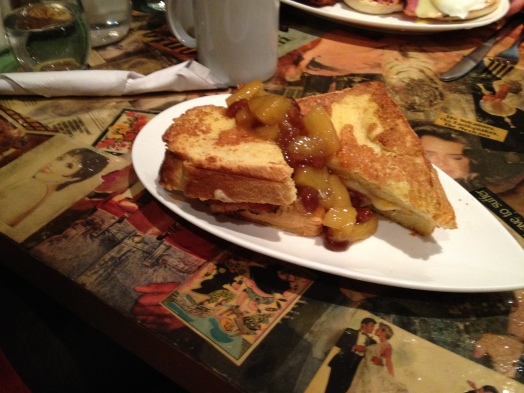 Monika's choice for brunch was Cardinal Rule's Hawaiian Stuffed French Toast.