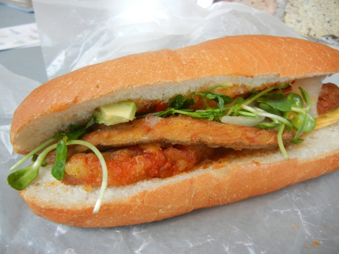 Butter Fish Sandwich from the Fish Shak Farmer's Market Toronto The Stop