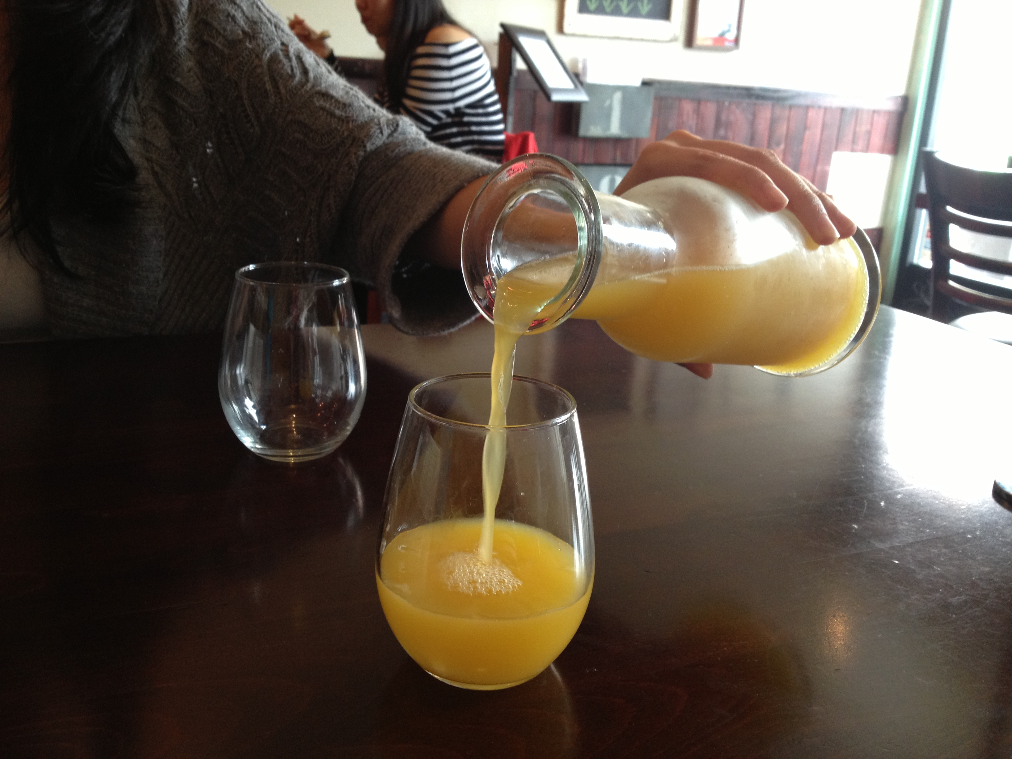 Bottomless Mimosas: A great way to start the morning!