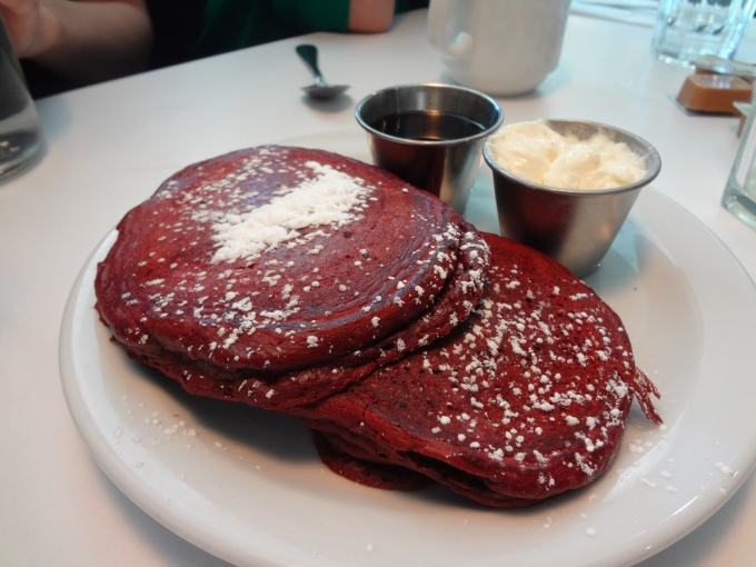 Pancakes, Please!! Red Velvet Goodness!