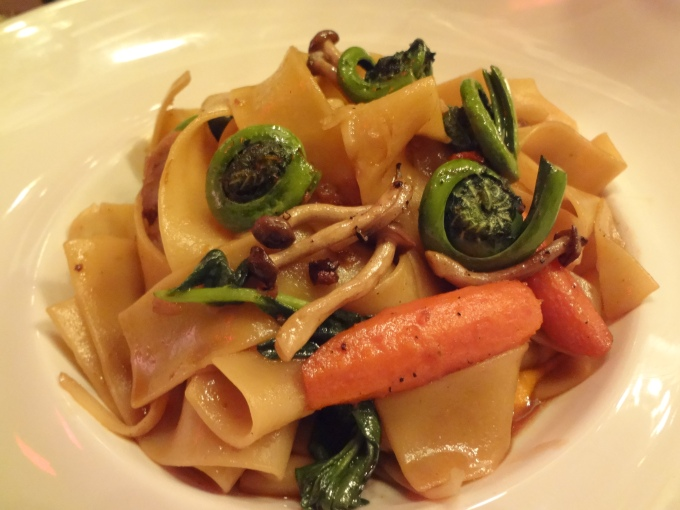 fiddleheads lamb braised pappardelle