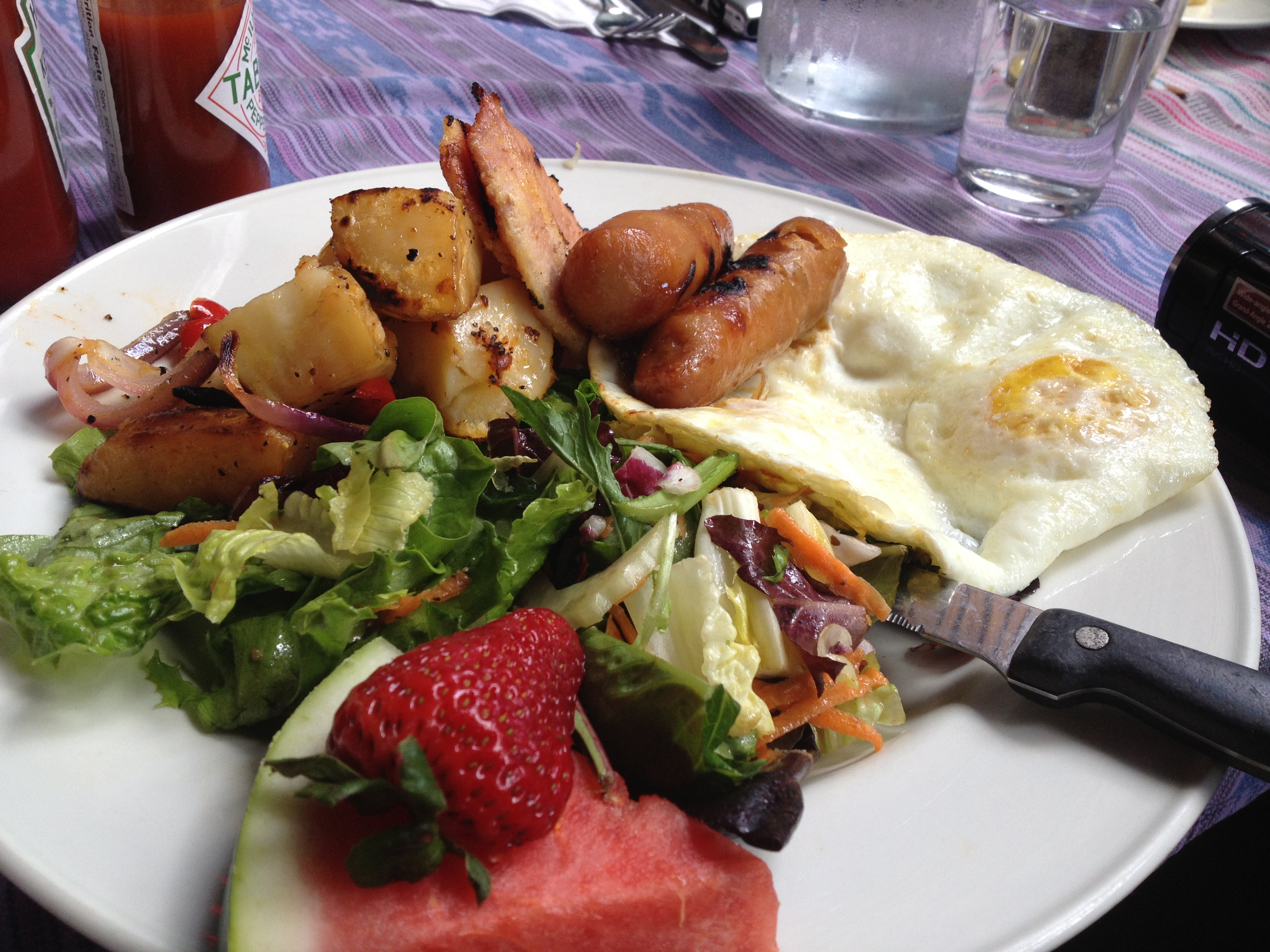 My brunch at Cafe La Gaffe.  This was good. I imagine their lunch and dinner will be too!