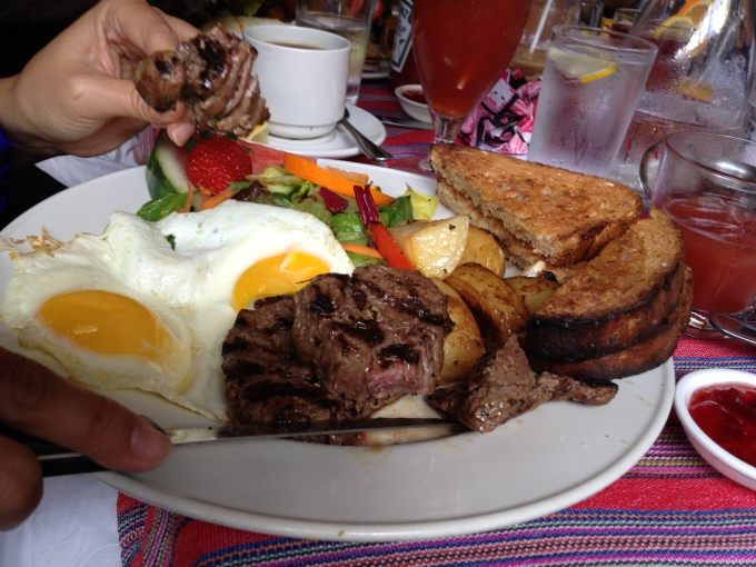 Steak and Eggs Cafe La Gaffe