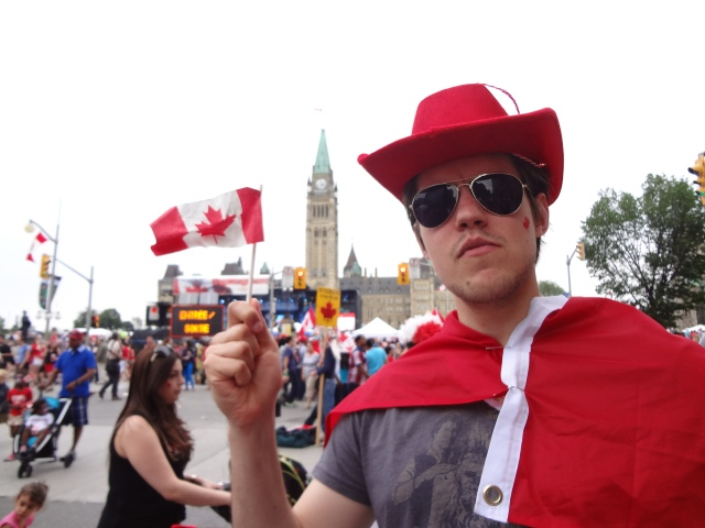 Captain Canada is serious about Canada Day