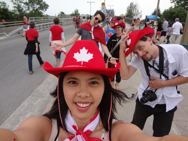 Got my hat! Got my friends! Canada Day here I come!