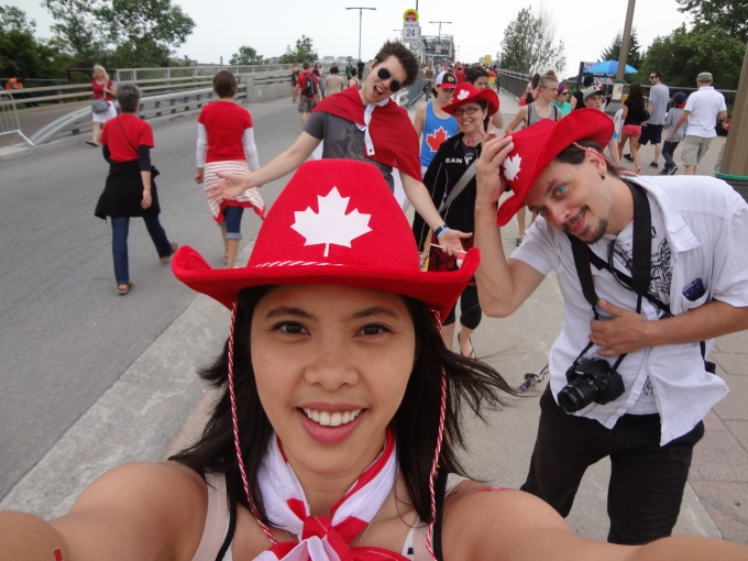 Got my hat! Got my friends! Canada Day here I come!