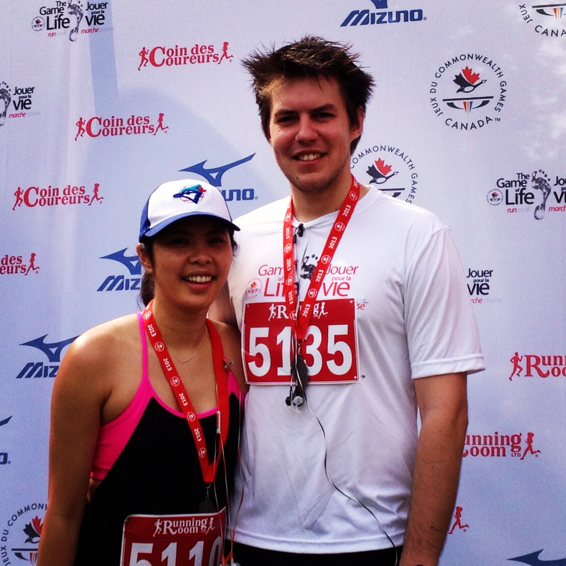 Finishers! Chris and I at the Game of Life 10k Ottawa