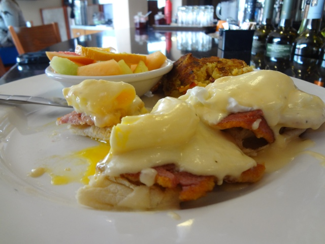 Eggs Benny - Chris couldn't wait for me to take a picture before he dug in!