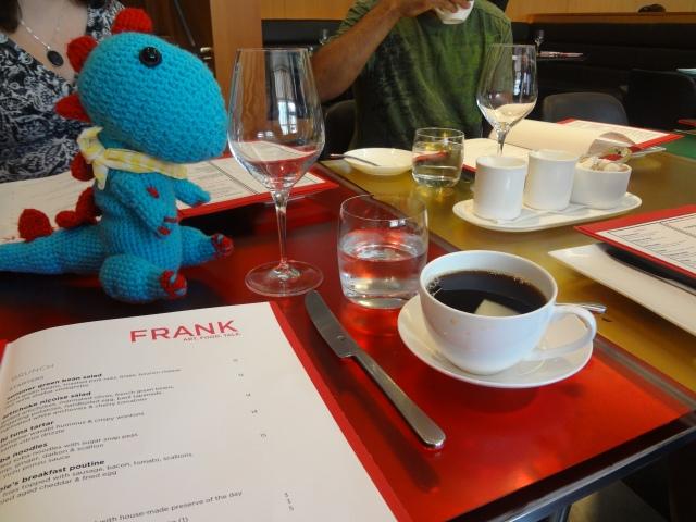 Menu and a cup of Joe at Frank's