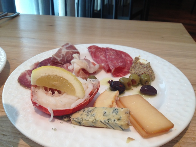 cheese and meat smorgasbord
