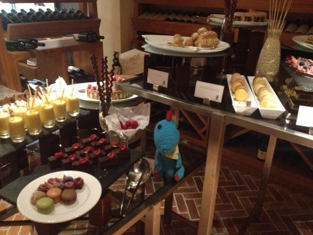 Benny in dessert room at Ritz Carlton Brunch