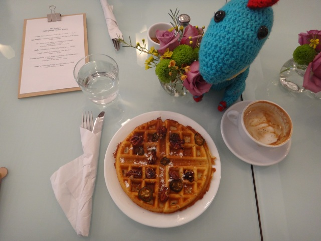 Benny Brunch The Scullery Cabbagetown Waffle Jalepeno