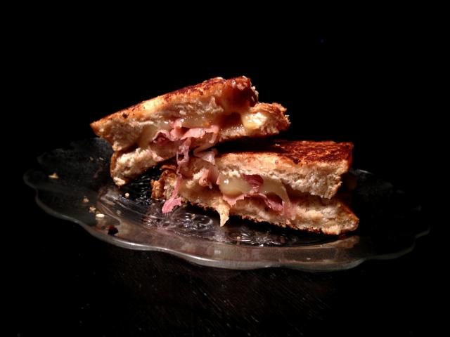 Procciuto with Brézain on  Challah Bread DIY Thursday Grill Cheese