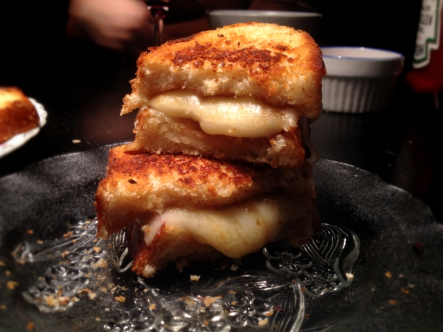 Gruyere, Apple Butter and Basil on Sourdough DIY Thursday Grill Cheese